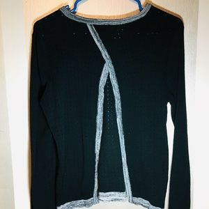 Fate | Stitch Fix Open Back Black Sweater